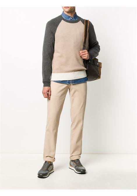 Maglia grigio / beige / bianco BRUNELLO CUCINELLI | MAGLIONE | M22701800CK081