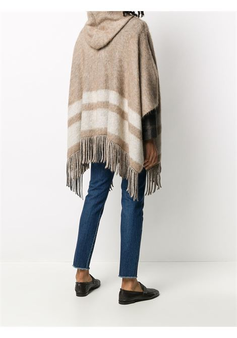 Brown cape BRUNELLO CUCINELLI | PONCHO | M2I182226CL399