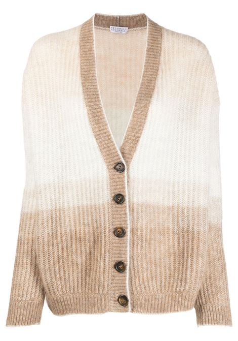 Light brown cardigan BRUNELLO CUCINELLI | CARDIGAN | M2I580106CV398