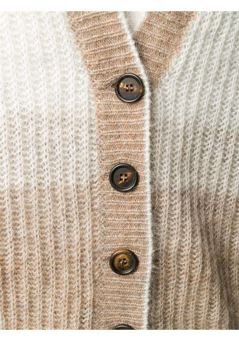 Cardigan marrone chiaro BRUNELLO CUCINELLI | CARDIGAN | M2I580106CV398