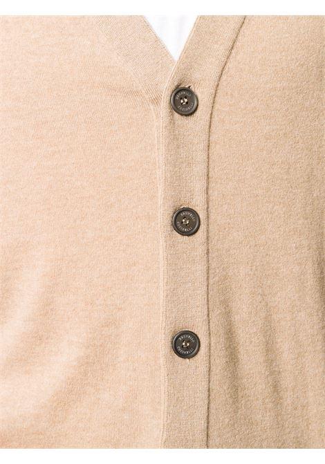 Cardigan marrone BRUNELLO CUCINELLI | CARDIGAN | M2Q82021CM338