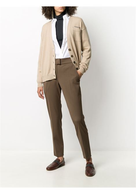 Brown trousers BRUNELLO CUCINELLI | TROUSERS | MB526P7406C8504