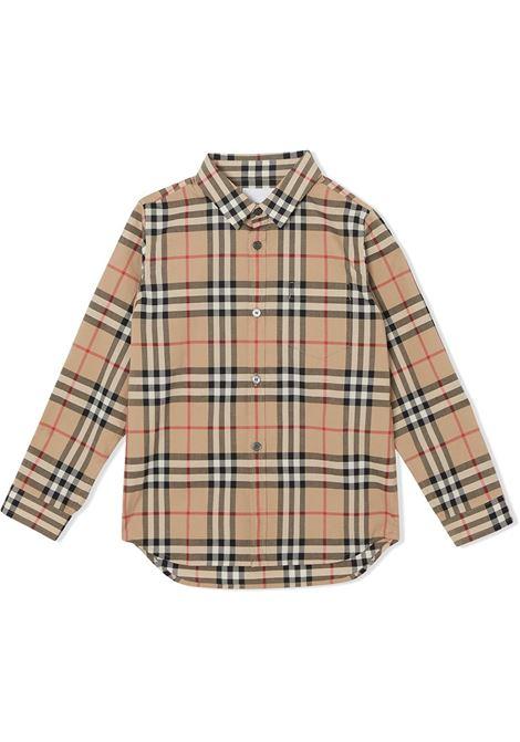 Camicia beige BURBERRY | CAMICIE | 8014134A7026