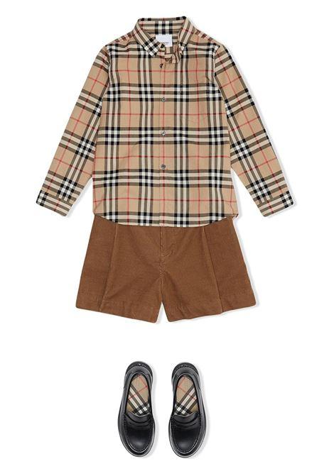 Camicia beige BURBERRY KIDS | CAMICIE | 8014134A7026