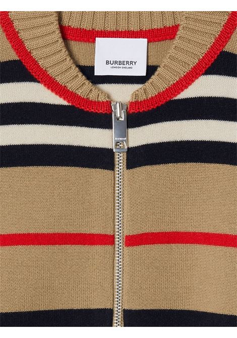 Cardigan marrone BURBERRY | GIUBBINI | 8030020A7026