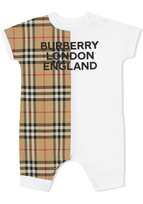 White/multicolour shorties BURBERRY | JUMPSUITS | 8030386A1464