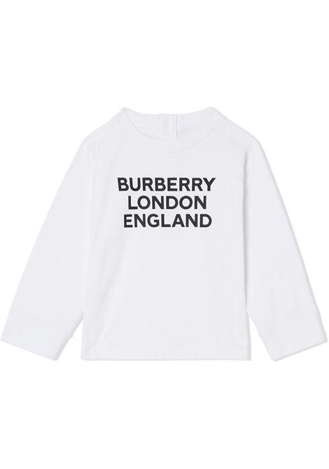 Felpa bianca BURBERRY | MAGLIE | 8031669A1464