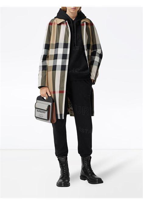 Beige/black coat BURBERRY | OUTERWEAR | 8035885A7028