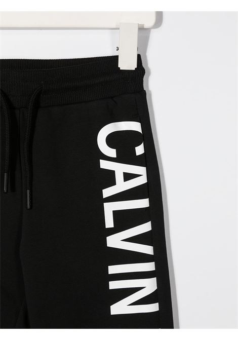 Pantalone nero CALVIN KLEIN | PANTALONI | IB0IB00674BEH