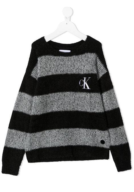 Maglione nero/bianco CALVIN KLEIN | MAGLIONE | IG0IG006810AP
