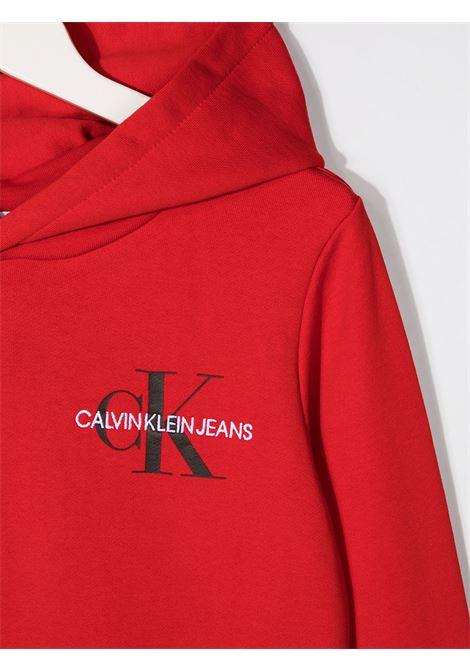 Felpa rossa CALVIN KLEIN | FELPE | IU0IU00164TXND