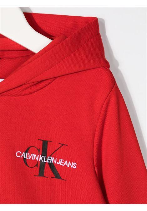 Felpa rossa CALVIN KLEIN | FELPE | IU0IU00164XND