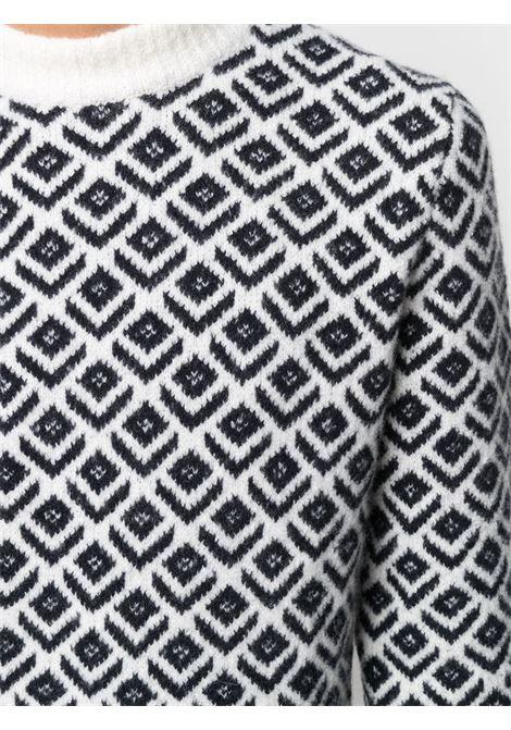 Black/white jumper CENERE MAGLIE | JERSEYS | FU32012401
