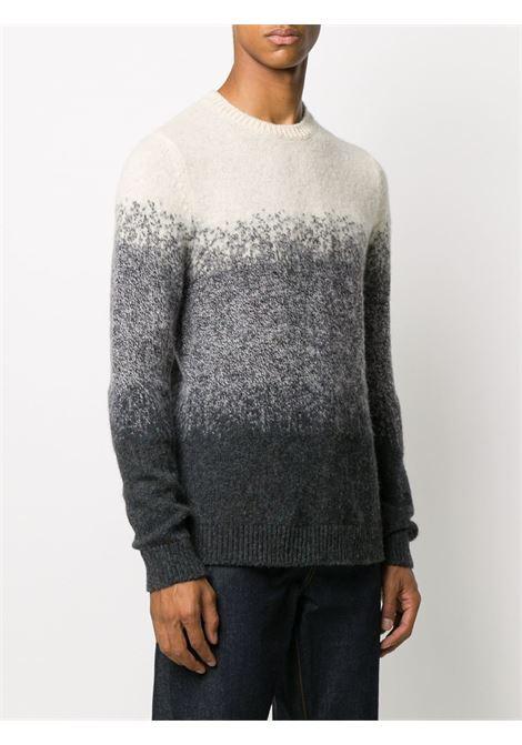 Maglione bianco sporco/ grigio CENERE MAGLIERIA | MAGLIE | 320W1001021M03