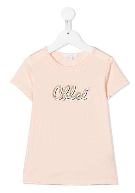 T-shirt rosa CHLOE | T-SHIRT | C15B3045F
