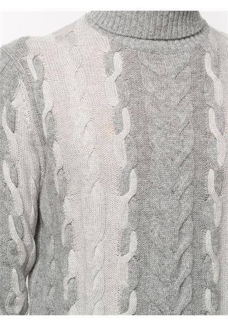 Maglia avorio/grigio CORNELIANI | MAGLIE | 86M5640825147024