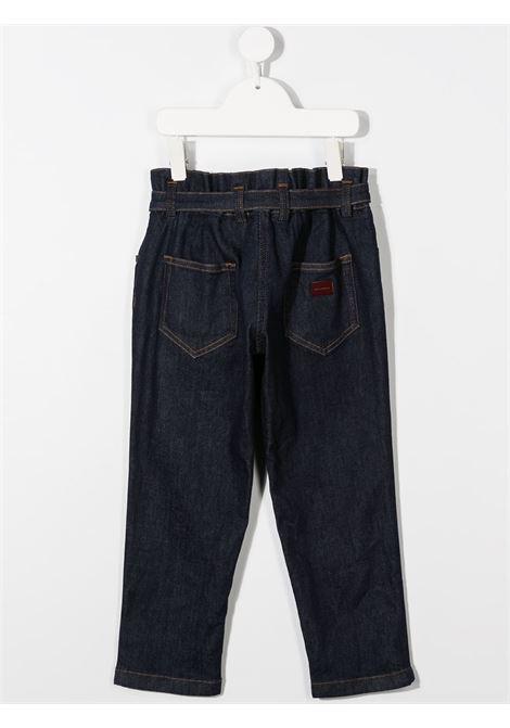 Pantalone blu DOLCE & GABBANA | PANTALONI | L52F13LD923B0665