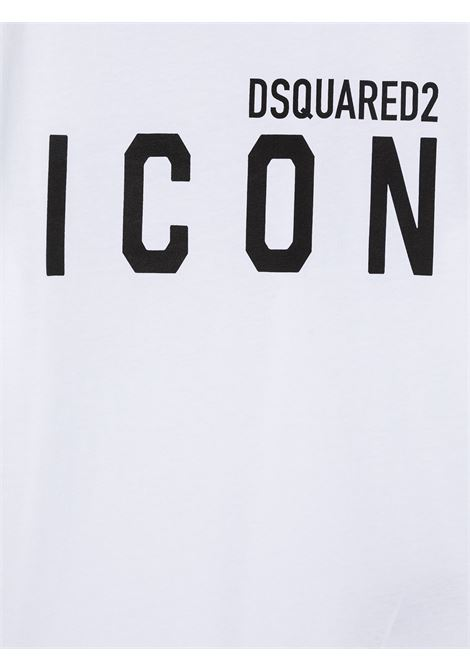 T-shirt bianca DSQUARED ICON | T-SHIRT | DQ048SD002FD2T582UDQ100