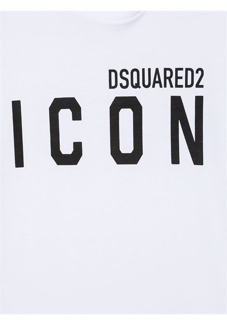 T-shirt bianca DSQUARED ICON | T-SHIRT | DQ048SD002FTD2T582UDQ100