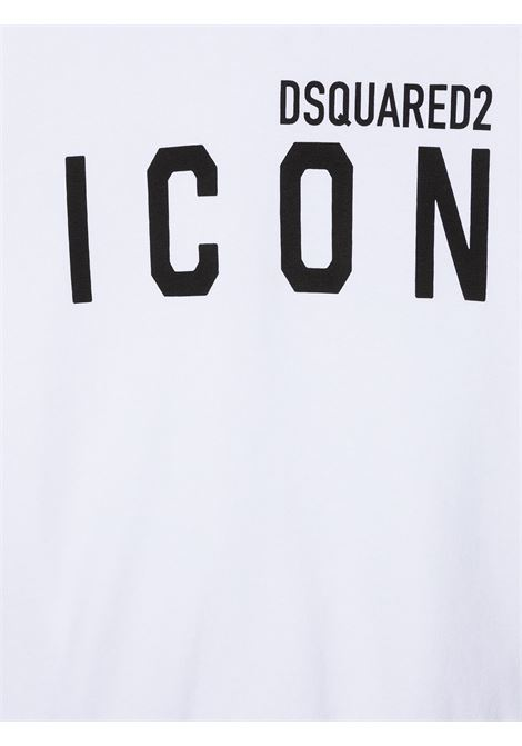 Felpa bianca DSQUARED ICON | FELPE | DQ049VD002YTD2S417UDQ100