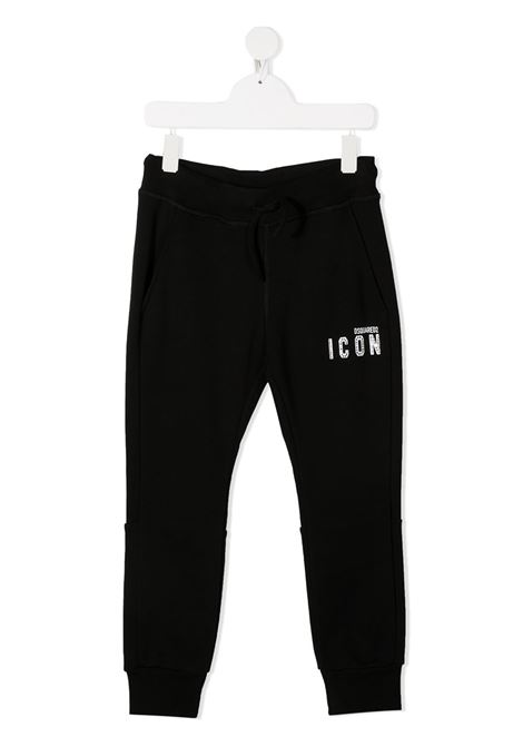 Pantalone nero DSQUARED ICON | PANTALONI | DQ04BGD003GD2P296FDQ900
