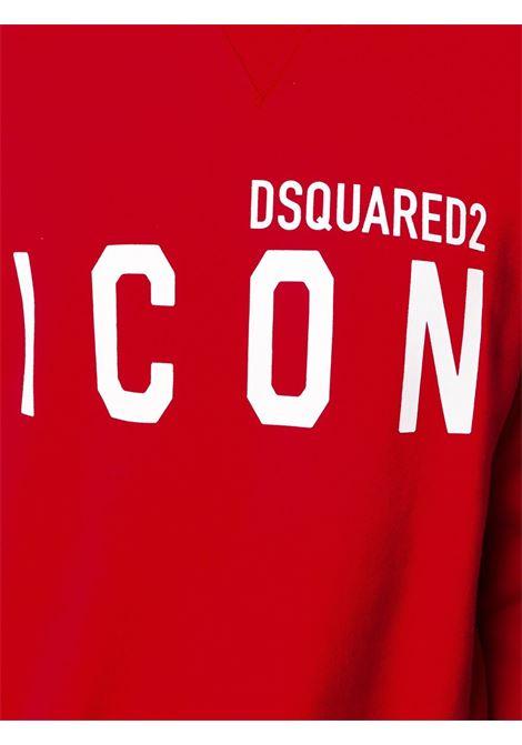 Felpa rossa DSQUARED ICON | FELPE | S79GU0004S25042309