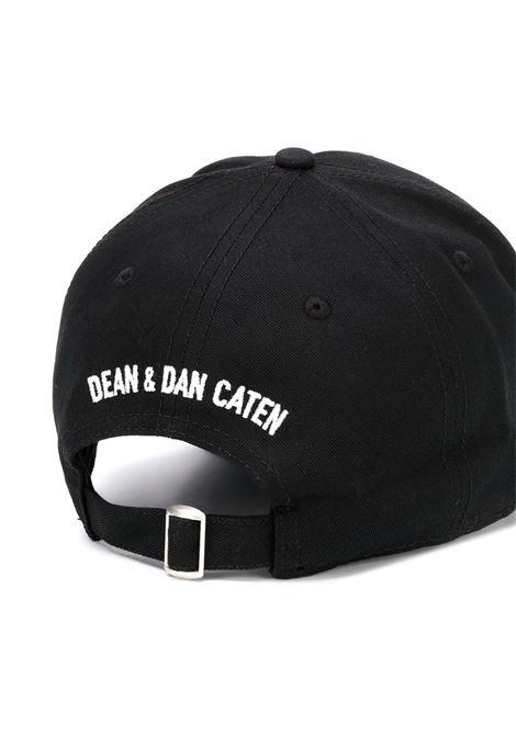 Cappello nero DSQUARED | CAPPELLI | BCM034005C000012124