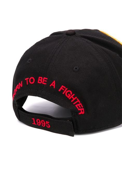 Cappello nero DSQUARED | CAPPELLI | BCM035405C000012124