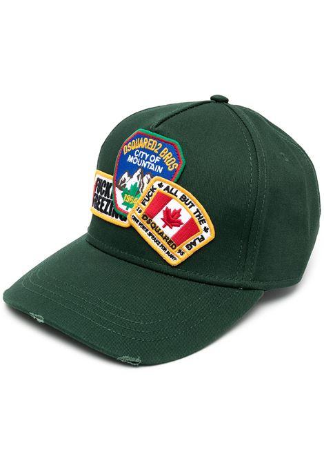Cappello verde DSQUARED | CAPPELLI | BCM038505C000018106