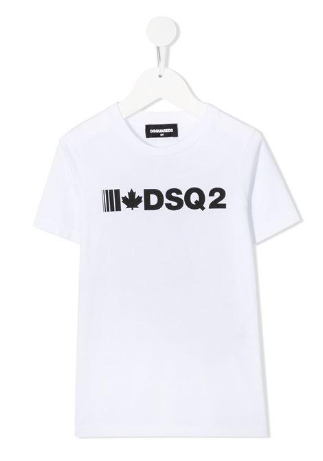 T-shirt bianca DSQUARED | T-SHIRT | DQ046YD002FD2T590MDQ100