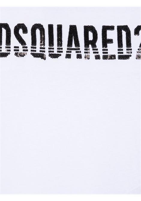 T-shirt bianca DSQUARED | T-SHIRT | DQ04BUD00MMD2T566FDQ100