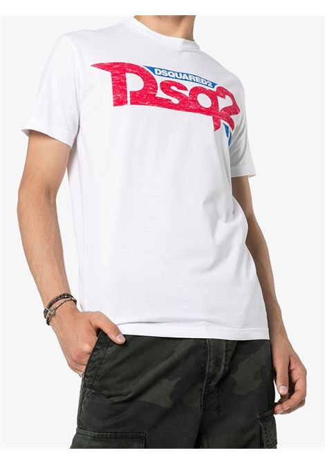 T-shirt bianca DSQUARED | T-SHIRT | S74GD0725S22427100