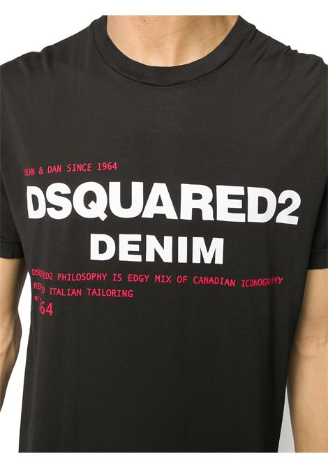 T-shirt nera DSQUARED | T-SHIRT | S74GD0729S21600900