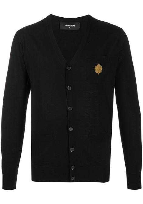 Cardigan nero DSQUARED | PULLOVER | S74HA1105S16794900