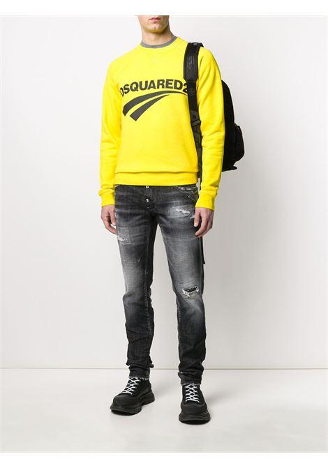 Pantalone nero DSQUARED | JEANS | S74LB0784S30357900