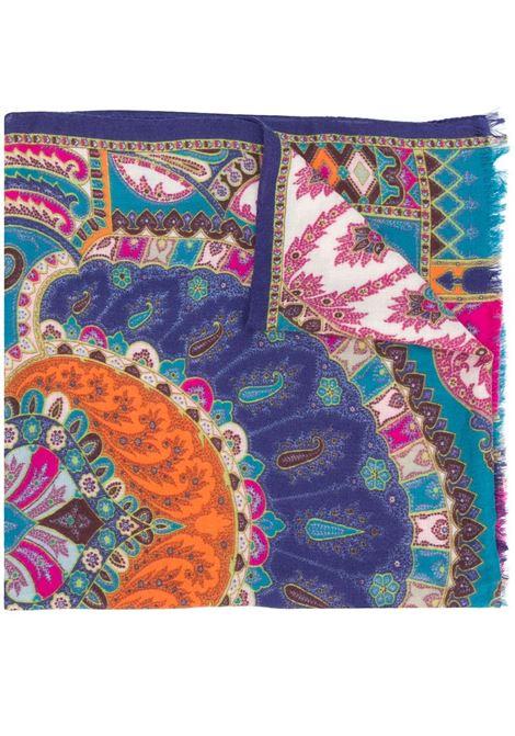 Blue/multicolour scarf ETRO | SCARVES | 100074491250