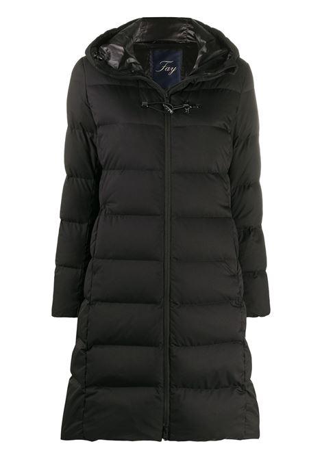 Black puffer jacket FAY | PADDED JACKET | NAW33414140SGWB999