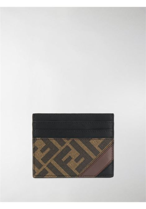 Portacarte marrone FENDI   PORTACARTE   7M0164A9XSF199B