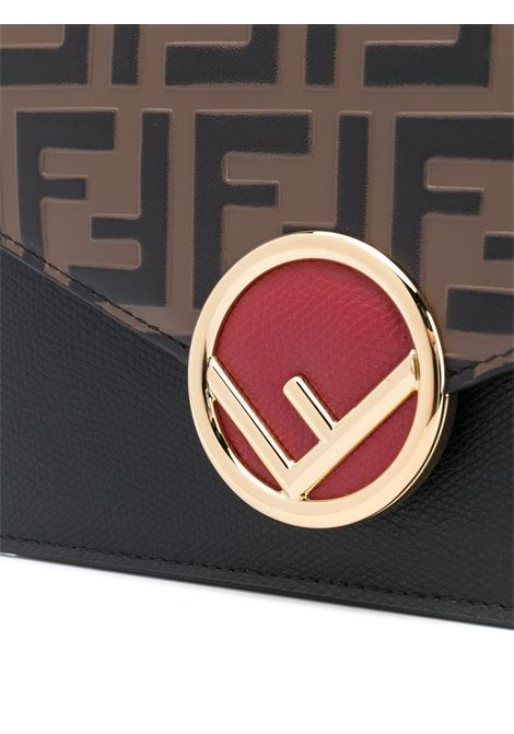 Pochette marrone / nero FENDI | CLUTCH | 8BS006AAIIF13VK