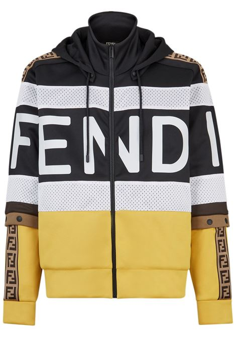 Felpa color block FENDI | FELPE | FAF583AD31F0G8T