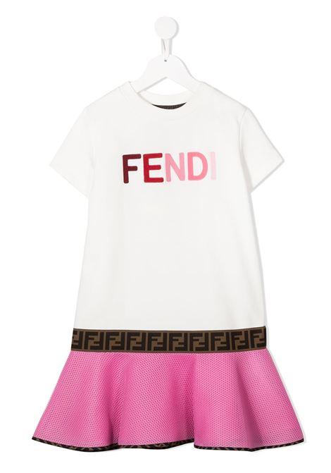 Abito bianco/rosa FENDI | ABITI | JFB381ACZWF0YT7