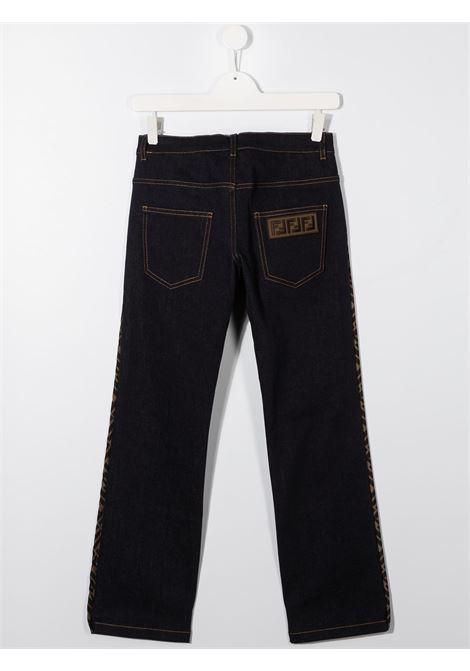 Pantalone blu FENDI | PANTALONI | JFF220TACSIF0NHJ