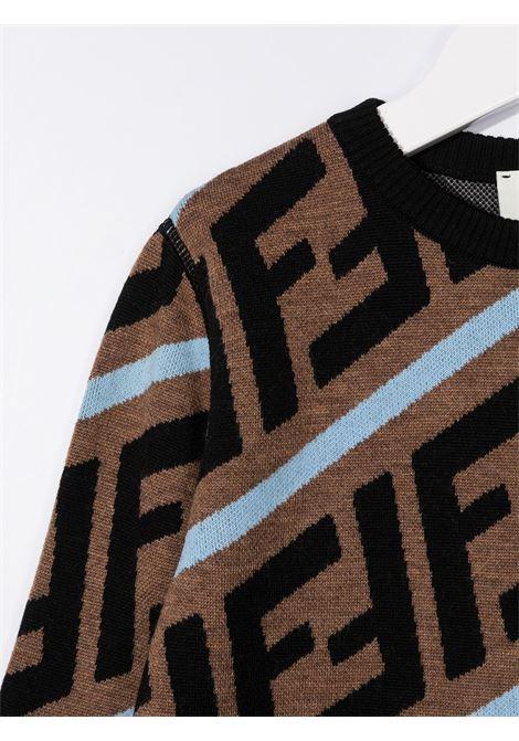 Maglione marrone/nero/blu FENDI | MAGLIONE | JMG066A8L7F17TR