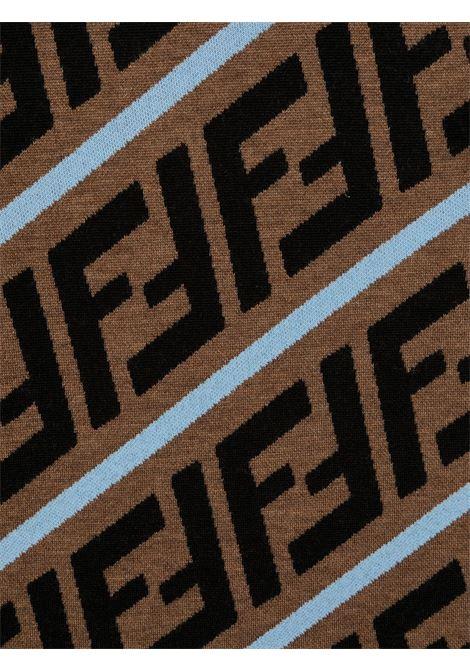 Maglione marrone/nero/blu FENDI | MAGLIONE | JMG066TA8L7F17TR