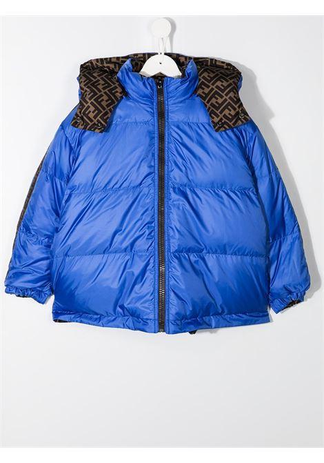 Giacca marrone/blu FENDI | BOMBER | JUA086AAC1F0ZF5
