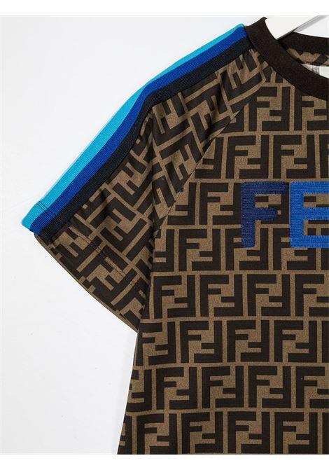 T-shirt marrone FENDI | T-SHIRT | JUI015ACZSF1BWE