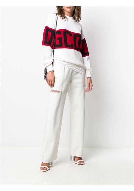 Maglione bianco GCDS | MAGLIONE | CC94W02111401
