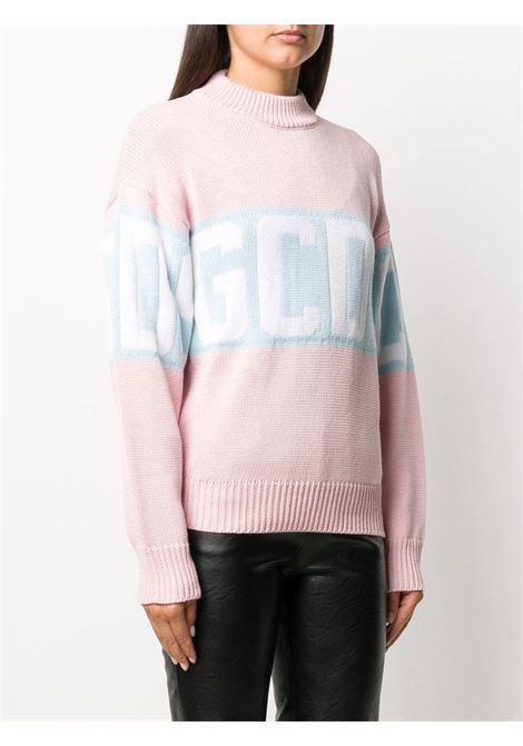 Maglione rosa/blu GCDS | MAGLIONE | CC94W02111406