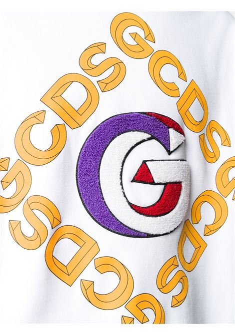 Felpa bianca GCDS | FELPE | FW21M02005501