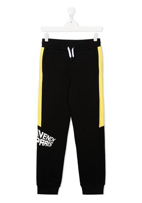 Pantalone nero/giallo GIVENCHY | PANTALONI | H24102TM55